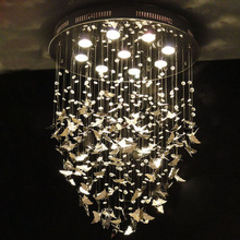 Butterfly pendant chandelier light led crystal lamps , LED Modern lighting(China (Mainland))