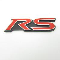 Free shipping 10pcs/lot High quality 3D Rs power and sports car logo sticker Aluminum alloy Car Mental Sticker/3M back glue