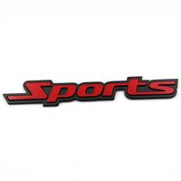 Free shipping 10pcs/lot High quality 3D Sports power and sports car logo sticker Aluminum alloy Car Mental Sticker/3M back glue