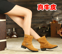 Zy women's shoes double 2013 autumn and winter genuine leather boots martin boots boots comfortable all-match boots