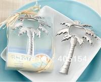 """Palm Breeze"" Chrome Palm Tree Bottle Opener 100PCS/LOT wedding bridal shower favor and gifts"