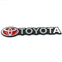 Free shipping 10pcs/lot High quality 3D VW power and Toyota car logo sticker Aluminum alloy Car Mental Sticker/3M back glue