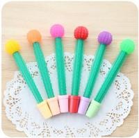 Stationery fashion fun cactus unisex water-based pen 0.38mm prize  2pcs/set
