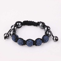 New Style! Free Shipping!10mm Handmade Disco Ball Beads Men Gift Crystal Shamballa Bracelet Fasion jewelry Bracelet SBB062