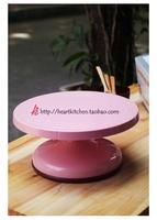Baking tools sn4153 three plastic cake turntable flower bed Pink