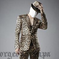 Men'scostume suit leopard print suit male free shipping