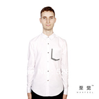 Free delivery of 2013 new fashion trend of men's shirts, fashion personality mosaic design