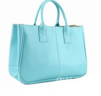 2013 trend vintage brief candy color block handbag shoulder bag female bags