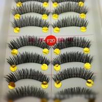 High Quality 10Pairs Handmade False Eyelashes  Human Hair Winged  False Eyelashes Free Shipping