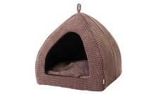 2014 Free Shipping New Cat Igloo Bed Pet Dog Cat Bed House Tent Extra Soft Corduroy S/M/L/XL High Quality Coffee Corn Corduroy