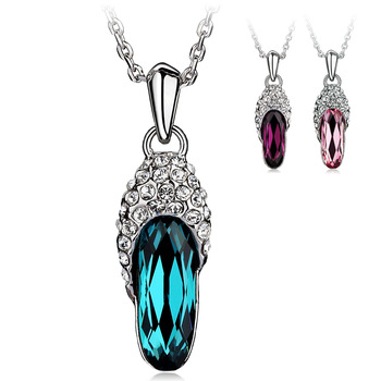 Accessories necklace female short design pendant chain glass shoes decoration necklace