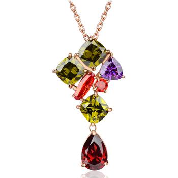 Accessories colorful zircon necklace elizabeth female luxurious design short chain new arrival