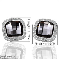 wholesale 18K White Gold plated fashion jewelry Austria Crystal,rhinestone,CZ diamond,Nickle Free Stud earrings KE057