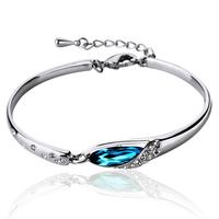 Bracelet female fashion glass shoes crystal bracelet ol accessories lovers birthday gift