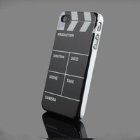 New Fashion Novelty Personality Clapper Board Slate Movie Cut Hard Back Case for Apple iphone 4/4s