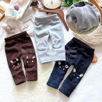 Little boy winter infant legging trousers warm pants plus velvet trousers legging