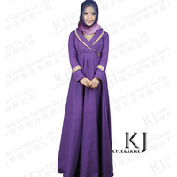 KJ pure cotton knitted export to Middle East Arab islamic robes gown dress hui Muslim women robe free shipping
