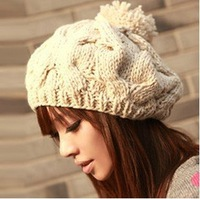 Free Shipping 2014 Winter Hats For Women Bone Touca Warm Twist Knitted Hat Fashion Beanies Women Winter Cap