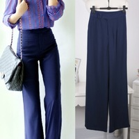 2013 autumn new arrival fashion casual slim chiffon high waist wide leg pants lululemon pants women palazzo pants Free Shipping