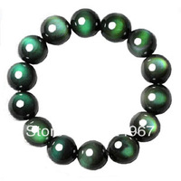 Natural green obsidian bracelet ,keep you lucky all the year
