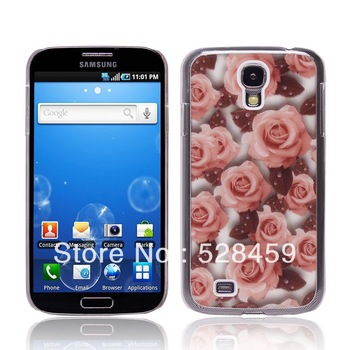 10pcs/lot Free Shipping New Stick Flower Hard back Case Cover for samsung galaxy s4 i9500+1pcs screen protector