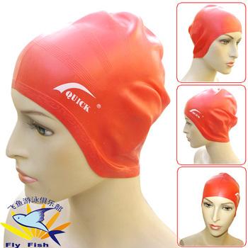 Male women's oversized hat pure silica gel waterproof belt ear swimming cap