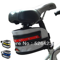 Outdoor 7 LED Cycling Bicycle Bike Tail Light Lamp Saddle Pouch Seat Bag