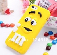 1pcs High Quality 3D Cute Rainbow Beans M$M Silicon case For iphone5g,New arrivals Lovely Chocolate For iphone 5 5G