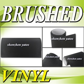 Black  Brushed car body wrap sticker With Air bubbles 1.52x30M