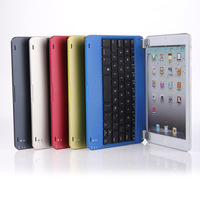 For Apple iPad Mini Aluminum Bluetooth 3.0 Wireless Keyboard Holder Case Cover  Free shipping by air mail