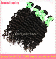cheap Malaysian hair weaving princess hair products virgin deep wave 3 pcs lot free shipping