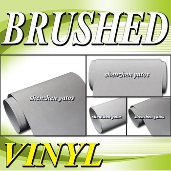 Silver  Brushed Aluminium car wrapping film  With 3M  bubbles 1.52x30M