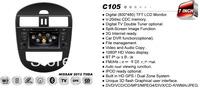 Car DVD Headunit For NISSAN Versa/Latio/Tiida 2011 2012 W/ Auto-AC With GPS Navi Radio BT iPod Steering Wheel Control