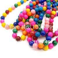 500pcs/lot  Free Shipping Fashion Mashan Jade Beads For Necklace& Bracelet Colorful Jade Beads 8mm Cheap Wholesale HC040
