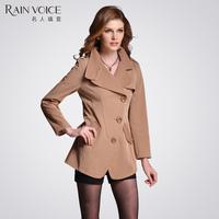 2013 autumn women's single breasted brief ol slim classic design short trench 12527