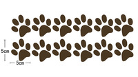 """Free Shipping Home Decor Paw Prints  of Kids Pets Dog Cat Vinyl Wall Art Stickers Wall Decals+12 (2"""" x 2"""" paw prints)"""
