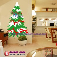Christmas window stickers decoration stickers merry christmas tree wall stickers