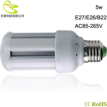 Free shipping  5W 3528 SMD led bulb lamp 85-265v high lumen 450lm e27 5w  led corn lamp light 220v