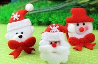 10pcs/Lot  Creative Christmas articles Clap Ring Christmas Tree Decorations Gift  Free shipping
