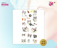 Cartoon Tattoo sticker, Waterproof Children Body Art, Temporary toy,cats, Free shipping