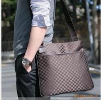 New Arrived leather shoulder bag men,fashional CANVAS bag for men. free shipping