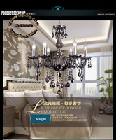 New arrivals european simple smoky grey chandelier, K9 crystal chandelier E14 bulb base power AC110V-240V