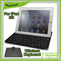 For iPad 2 3 Noble Portable Aluminium Alloy Tablet Bluetooth 3.0 Wireless Keyboard With Stand Holder Function ,Free Shipping