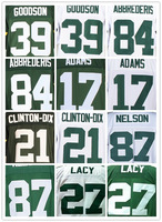 Free Shipp Wholesale Men's American Football Jerseys Cheap Packers #87 Jordy Nelson White Green Elite Jerseys,Embroidery Logos