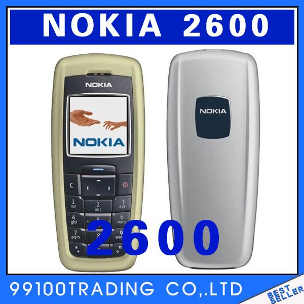 original Nokia 2600 unlocked cell phones java camera 2600 GSM bluetooth mobilephones free shipping(China (Mainland))