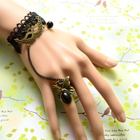 2013 lace gothic vintage mask accessories fashion vintage punk bracelet ring one-piece set decoration