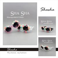 Elegant Styles Flower Sunglass Fashion Children kids  girls floral sunglasses women brand designer summer beach holiday