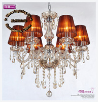 New arrivals european modern style chrome chandelier, K9 crystal chandelier E14 bulb base power AC110V-240V