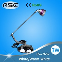 AC 85V-265V 1*3W LED Table Lamp Light LED for Bedroom Living Room Stainless Steel Cool White/Warm White 1pcs/lot