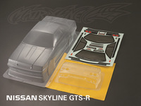 unpainted shell body clear body shell NISSAN SKYLINE GTS-R   for 1:10 rc racing car    free shipping